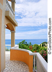 Terrace with sea view - adriatic sea landscape, view from...