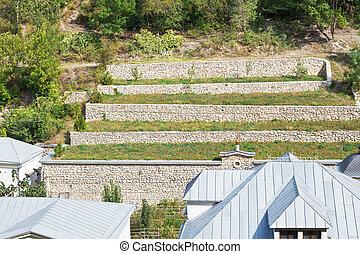 terraced farmland, Crimea - terraced farmland in Saint...