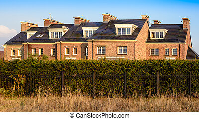 Terraced house in the English Victorian style