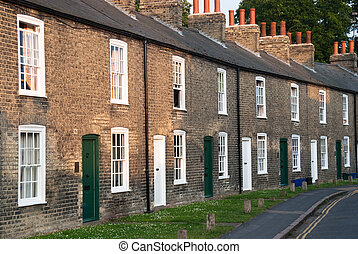 Terraced houses - Row of red brick terraced houses