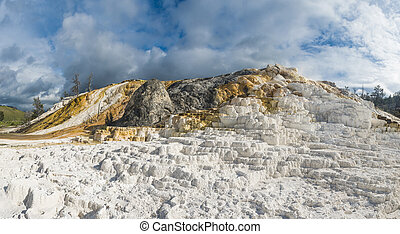 Terraces in Yellowstone National Park
