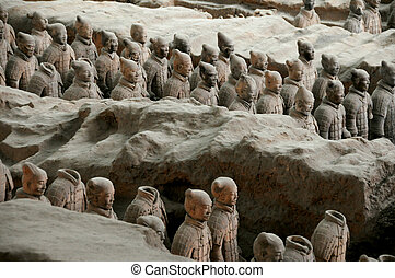 terracota, china, soldados, xi'an