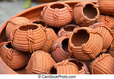 terracota clay Pottery - collection of Traditional terracota...