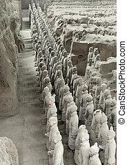 terracota, ejército, en, xian