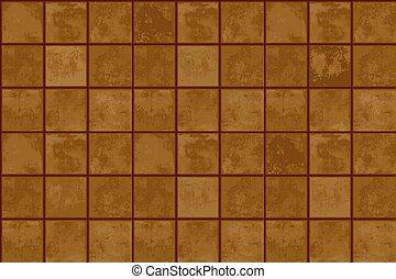 Terracotta floor tiles. seamless abstract geometric texture