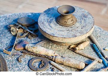 terracotta, gebeeldhouwd kunstwerk