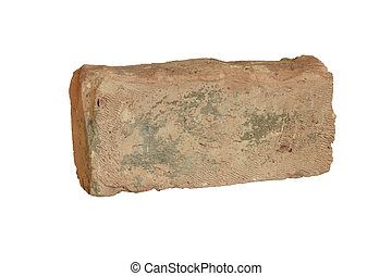 Terracotta old brick - Terracotta old hand-formed brick of...