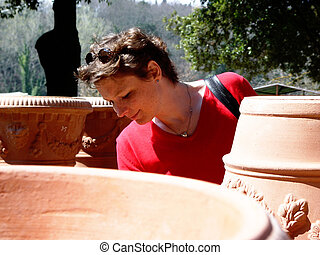 terracotta shopping - in a pottery