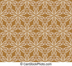 terracotta vintage fabric, seamless vector pattern