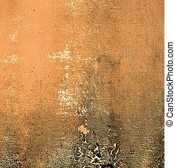 Terracotta wall with grunge mold border background