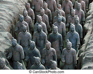 terracotta warrior statues