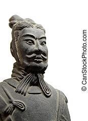 terracotta warriors close-up,xian, china.