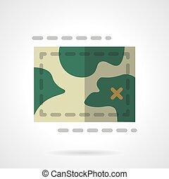 Terrain map flat color design vector icon