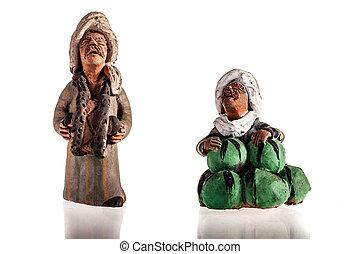 terrakotta, figuriner