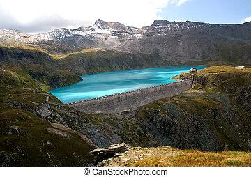 terraplén, en, alpes italianos