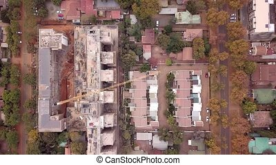 terrasse, construction, appartement, afrique, maisons, sud, ...