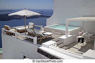 terrasse, privé