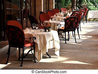 terrasse, restaurant