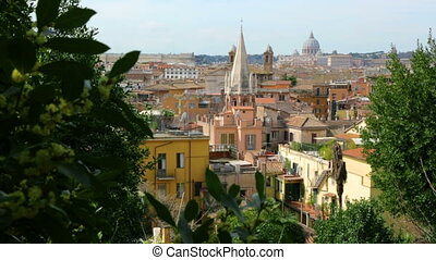 terrasse, ville, pincio, rome, vue