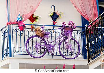 terraza, colorido