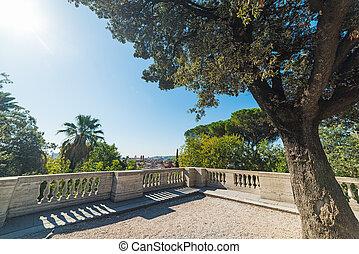 Terrazza del Pincio on a sunny day