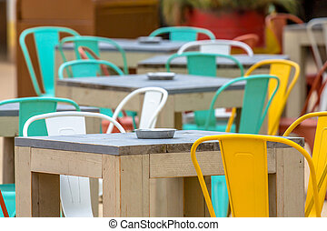terrazzo, colorito, ristorante