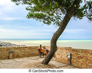 terrazzo, mare