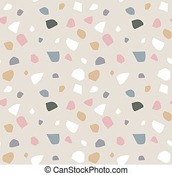 Terrazzo seamless pattern. Abstract background
