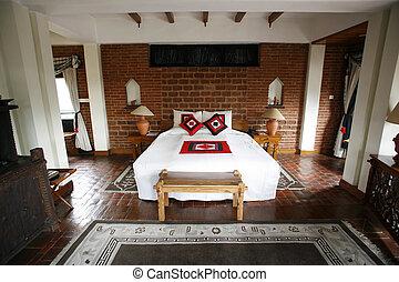 terre cuite, chambre à coucher
