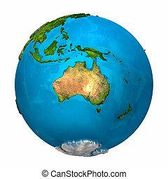 terre planète, australie, -