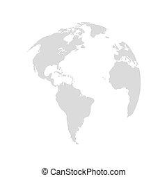 terre planète, conception, carte