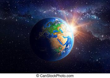 terre planète, espace extérieur