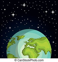 terre planète, espace