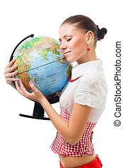 terre planète, femme, amour