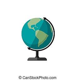 terre planète, globe