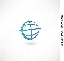 terre planète, icône