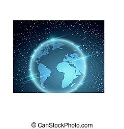 terre planète, illustration