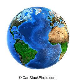 terre planète, landforms