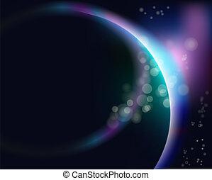 terre planète, levers de soleil, espace