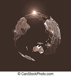 terre planète, résumé, triangles, space.