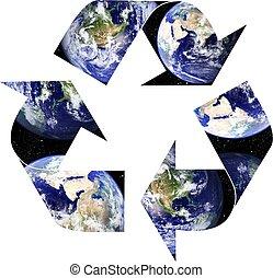 terre planète, recyclage