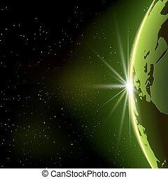 terre planète, vecteur, espace illustration