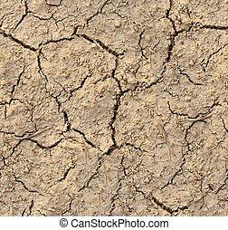 terrein, gebarsten, tileable, textuur, grond