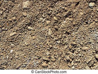 terrein, texture., steenachtig, grond