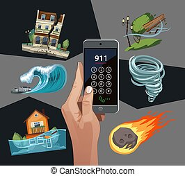terremoto, waterflood, windstorm, cataclysms, emergencia, ...