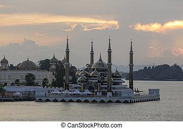 terrengganu,  kristal,  masjid,  kuala, Malásia