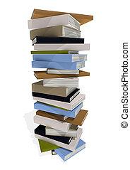terreno, de, libros
