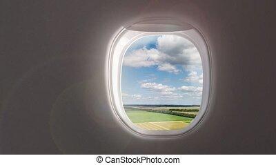 terres, aircraft., agricole, vidéo, intérieur, ciel, aérien...