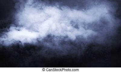 terrestre, fumée, générateur, niveau