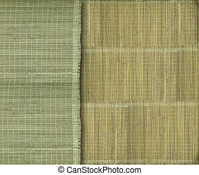 terrestre, verde amarelo, fundo, faixa, bambu